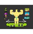 Bodybuilder character flat vector image vector image