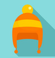 boy winter hat icon flat style vector image