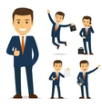 Businessman cartoon character vector image