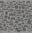 car silhouette seamless pattern vector image