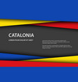 catalan colors and free grey space for your text vector image vector image