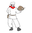 Chef with chicken vector image vector image
