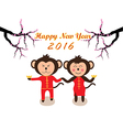 Chinese New Year design Cute monkeys vector image vector image