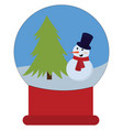 christmas toy on white background vector image vector image