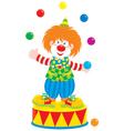 Circus clown juggler vector image vector image