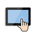 click on the touch screen tablet vector image vector image
