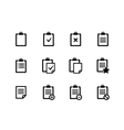 Clipboard icons vector image vector image