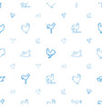 cock icons pattern seamless white background vector image vector image
