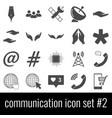 communication icon set 2 gray icons on white vector image