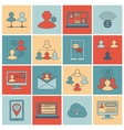 Communication icons set flat line vector image vector image