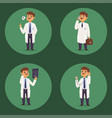doctor nurse character medical man staff vector image vector image