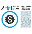 Financial Reward Seal Icon with 1000 Medical vector image vector image
