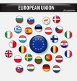 flags of european union and members vector image vector image
