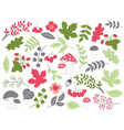 Forest Summer Set vector image vector image