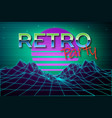 futuristic background 80s style retro party vector image vector image