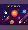 galaxy or cosmos space with stars and sun vector image vector image