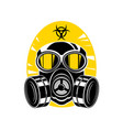 gas mask with lenses and a hood sign chemical vector image