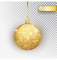 golden glitter christmas bauble glitter vector image