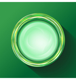 green glasses button vector image
