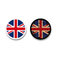 grunge british flag badges vector image vector image