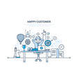 happy customer successful cooperation positive vector image