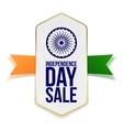 independence day sale banner with ribbon vector image vector image