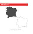 map cote divoire isolated vector image vector image
