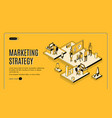 marketing strategy financial analytic company vector image vector image