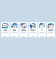 mobile app onboarding screens financial vector image