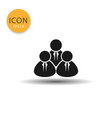 people icon isolated flat style vector image vector image