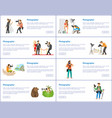 photographer profession and hobby web banners set vector image vector image