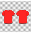 red men s t-shirt template v-neck front and back vector image