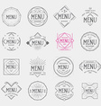 Restaurant menu logo vintage label retro design vector image vector image