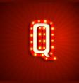retro style letter q vector image