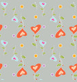seamless pattern colorful flowers in the shape of vector image vector image