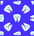 seamless pattern with teeth on a blue vector image vector image