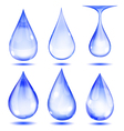 Set of opaque drops vector image vector image