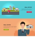 Set of Real Estate Conceptual Web Banners vector image vector image