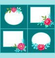 set postcards with flowers vector image vector image