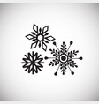 snowflakes on white background vector image vector image