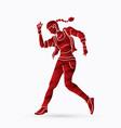 street dance b boys dance hip hop dancing action vector image vector image