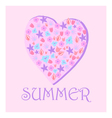 summer heart of flowers vector image vector image