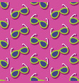 summer seamless pattern with sunglasses vector image