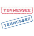 tennessee textile stamps vector image vector image