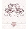 vintage label with ribbon and floral vector image vector image