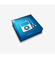 musical player icon vector image