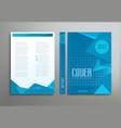 blue template brochure book report business vector image