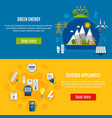 green energy and electric appliances banners vector image
