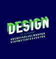 3d style modern font vector image vector image