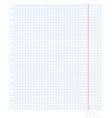 a blank sheet of paper in vector image vector image